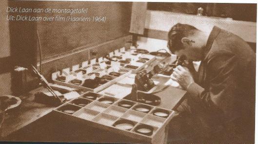 In het tijdschrift 'Ons Vloemendaal', jargang 39, nummer1 , 2015, wijdde Inge de Wildse een bijdrage aan filmpioniers in Kennemerland, zoals Maurits Binger, Dick Laan, J.C.Mol, Louis van Gasten en Dick Maas. Op deze foto uit 1964zien we Dick Laan aan de montagetafel.