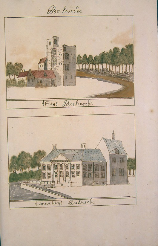 Berkenrode. Uit: Atlas Schoemnaker, circa 1720 (KB-Den Haag)