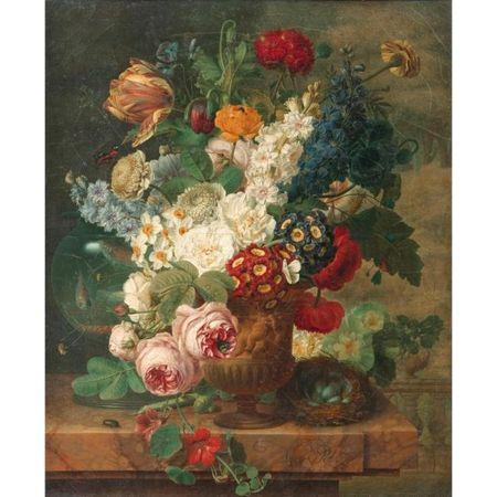Bloemenvaas van Christiaen van Pol, in 2010 bij Sotheby's geveild voor de kunstenaar recordbedrag van 126.750 euro