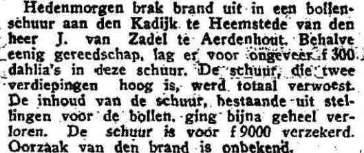 Uit: het Vaderland van 26 februari 1932