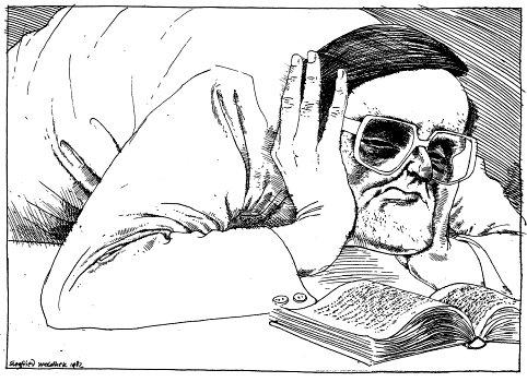 Tekening door Siegfried Woldhek uit 1982