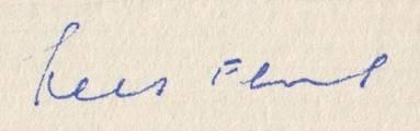 Handtekening van Kees Fens