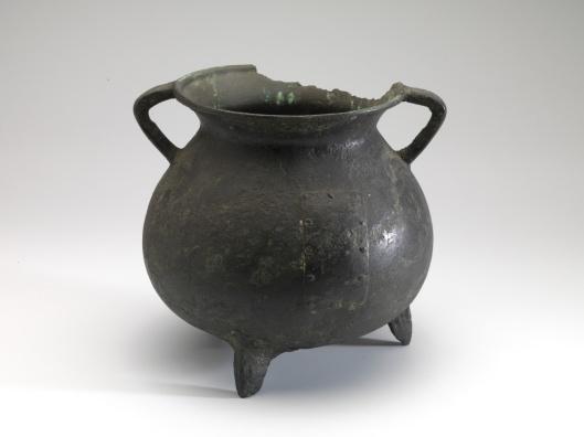 Kookpot uit de 14e eeuw, opgegraven in Heemstede (Museum Boymans van Beuningen)