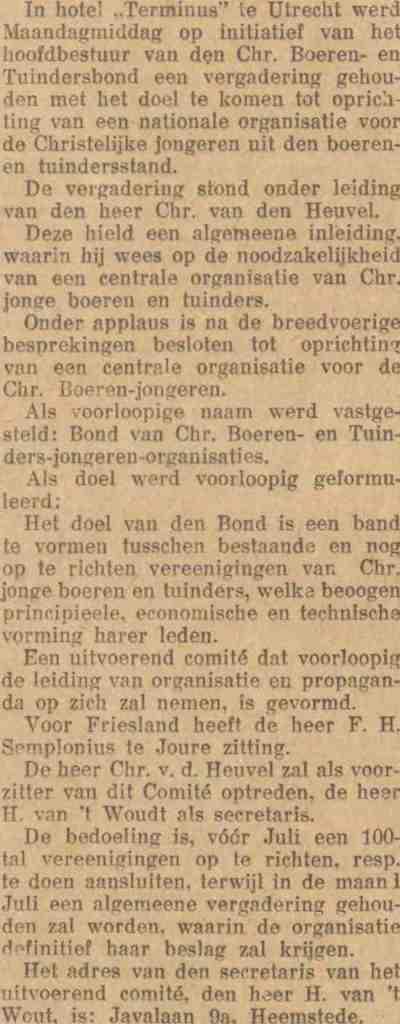 Uit: Leeuwarder Nieuwsblad van 31 december 1930