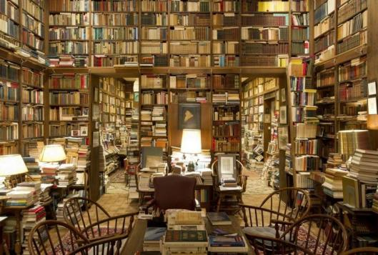 De bibliotheek van professor Richard A.Macksey van de Hopkins Universiteit in de USA