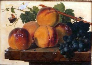 'Abrikozen en druiven', schilderij van Christiaen van Pol