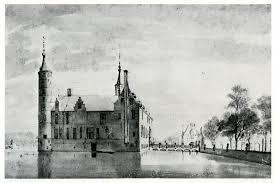 Het Huis te Heemstede en de Vredesbrug, poortgebouw en Nederhuis, getekend door Roeland Rorghman (1627-1692)