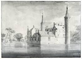 Achterzijde van het Huis te Heemstede, getekend door Roeland Roghman (1627-1692)