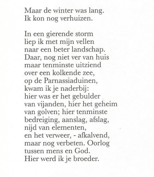 Vervolg van vers 'Kraantje Lek' door Michel van der Plas