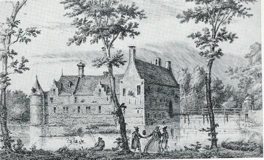 Oud Heemstede buiten Haarlem, door Hendrik Spilman (1721-1784) nagetekend naar een originele tekening van D.Vinkebooms (Vingbooms) uit 1607