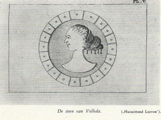 De zogeheten steen van Bennebroek ofwel steen van Velleda