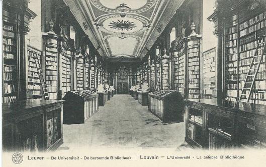 De universiteitsbibliotheek van Leuven voor de brand van 25/26 augustus 2014