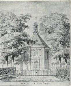 Kerk van Bennebroek. Tekening door Hendrik Tavenier, 1783 (N.H.Archief)