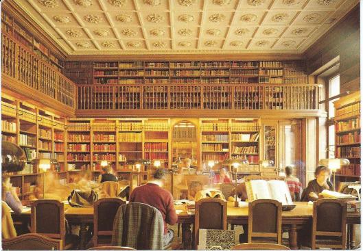 Bibliothèque de l'Arsenal, salle de travail, Paris (1982)