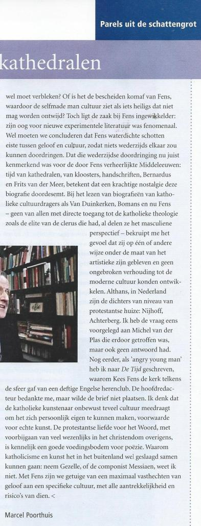 Vervolg column Kees Fens, door Marcel Poorthuis, uit: SamenKerk, november 2015.