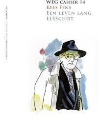 Fens getekend op voorzijde van Weg Cahier 14. Kees Fens: Een leven lang Elsschot.