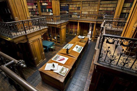 Een overzicht van de bibliotheek in Teylers museum. Circa 1880 ontworpen door A.van der Steur jr. (foto Kees Hageman, 2009)