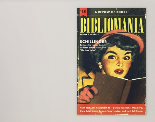 Old newsletter 'Bibliomania' with reviews of books