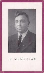 Voorzijde bidprentje A.J.Loerakker, 26-8-1873 geboren in Heemstede; overleden 30-9-1950 te Haarlem.