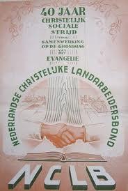 In 1900 is de Algemene Nederlandse Landarbeidersbond opgericht, in 1904 de rooms-katholieke bond en in 1907 de Nederlandse Christelijke Landarbeidersbond. Bij het 4-jarig bestaan van laatstgenoemde vakbond is het afgebeeld affiche ontworpen door Daan van Driel Sr.