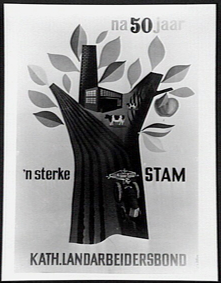 Logo van 50 jaar Katholieke Arbeidersbond (Katholiek Documentatiecentrum Nijmegen)