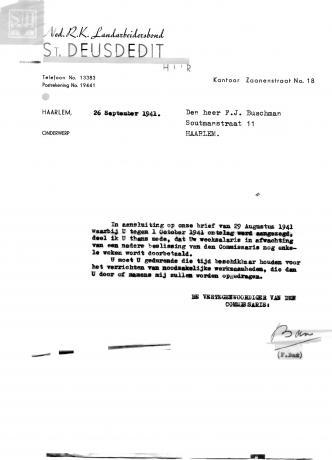 Ontslagbrief Frans Buschman