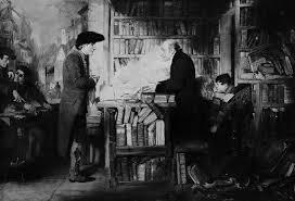 William Fetter Douglas. Schilderij van Bibliomania