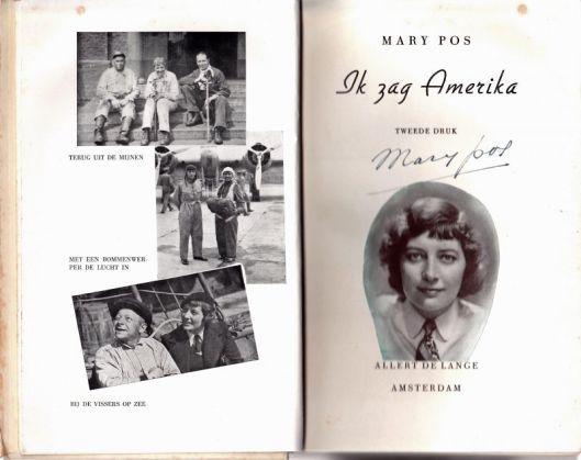 Titelpagina van tweede druk van 'Ik zag Amerika' door Mary Pos