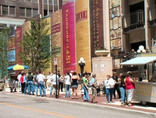 Vooraanzicht centrale openbare bibliotheek Kansas, USA