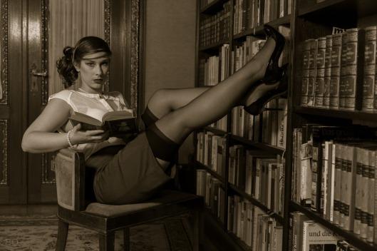 Moderne boekenworm (Motivjäger)