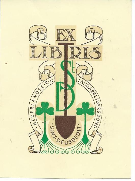 Ex Libris van bibliotheek Sint Deusdedit
