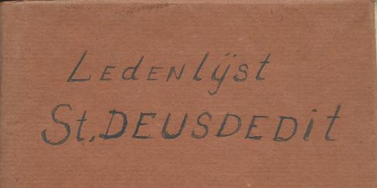 Voorzijde schrift met ledenlijst afdeling Heemstede van St.Deusdedit