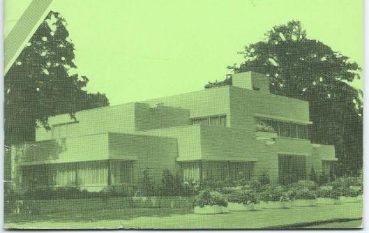 Raadhuis Benneboek. Voorzijde gemeentegids Bennebroek 1988