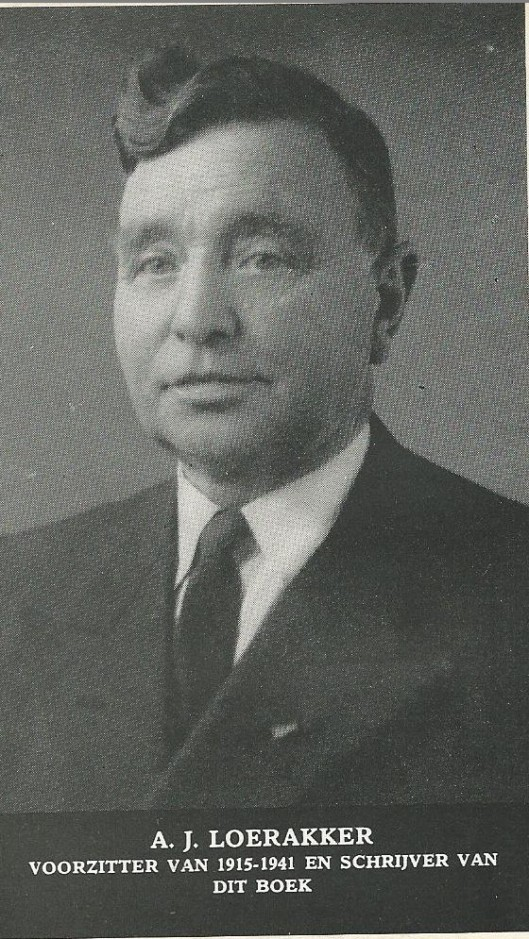 Portret van A.J.Loerakker