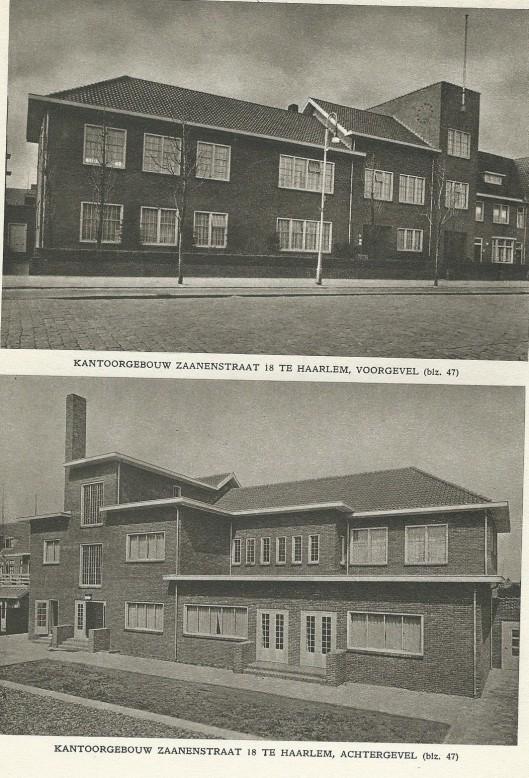 Kantoorgebouw van de r.k. landarbeidersbond aan de Zaanenstraat in Haarlem-Schoten