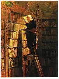 'De boekenworm' door Carl Spitzweg (1808-1885)