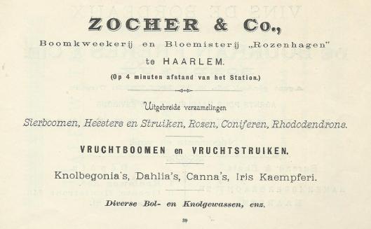 Ten aanzien van arbeidsomstandigheden was Zocher van de Haarlemse bloemisterij 'Rozenhagen' volgens vakbondsman A.J.Loerakker vooruitstrevend.