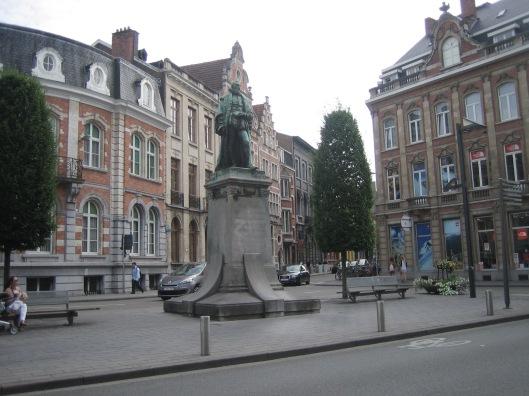 Standbeeld van de geleerde Justus Lipsius in Leuven