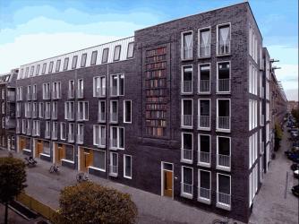'Boekenkast': baksteenreliëf, in nieuwbouw op de hoek van de Jacob van Lennepstraat en Lootsstraat in Amsterdam (Oud-West). Gevuld met circa 250 boeken van schrijvers waaraan straten in de buurt zijn vernoemd, zoals C.Loots, Jacob van Lennep, J.P.Heije, J.Kinker, A.C.W.Staring.