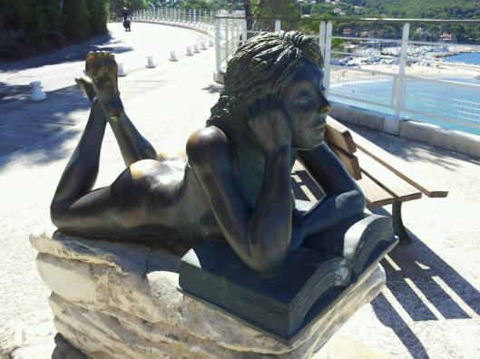 Sculptuur in St.Cyr-les-Lecques, Frankrijk