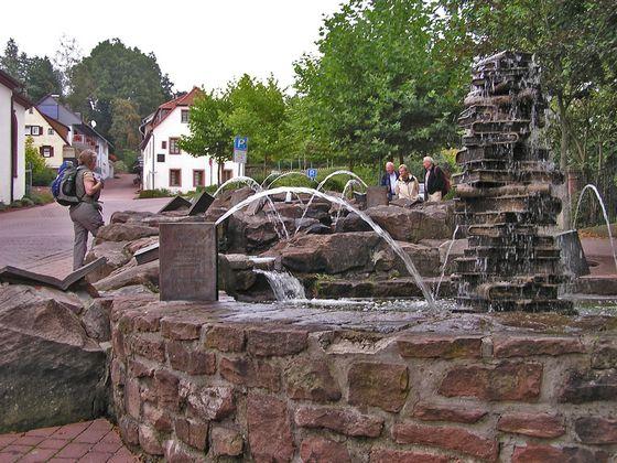 Boekenfontein in Waldmichelbach, Odenwald, Duitsland