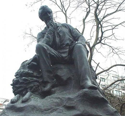 Standbeeld van de Britse letterkundige Lord Byron (1788-1824) In Hyde Park, Londen (Lonpicman)