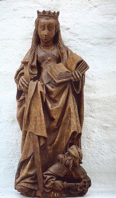 Houten beeld van de heilige Catharina, door Jan van Steffenswert, circa 1520 (Andrei Veremeiren)