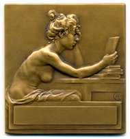 Alexandre Chartentier. Médaille Sociétié des amis des livres. 1998. bronze