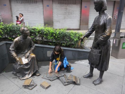 Book sculpture in Chengdu, Vietnam