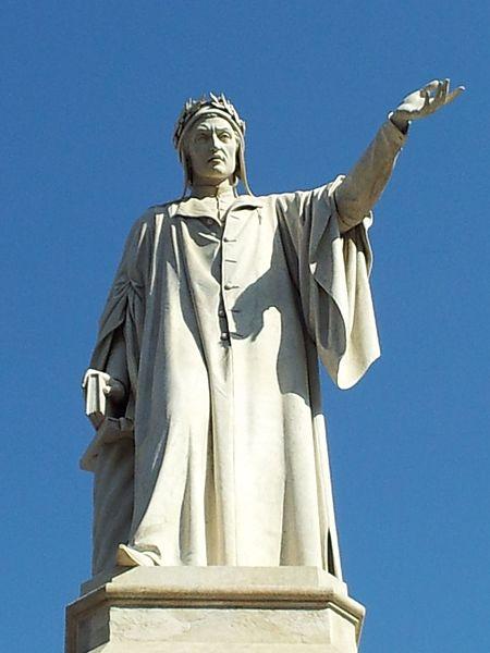 Standbeeld van Dante Alighieri in Napels (Wikipedia)