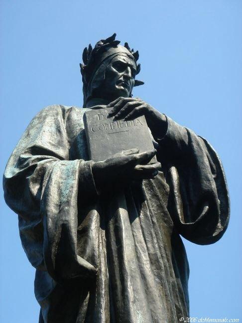 Standbeeld van Dante met 'Divina Comedia' in Meridian Hill Park, Washington D.C.