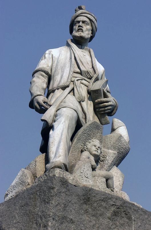 Standbeeld van Firdusi in Rome, vervaardigd door beeldhouwer Sadighi