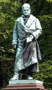 Standbeeld van de Duitse mathematicus C.F.Gauss (1777-1855) in Braunschweig
