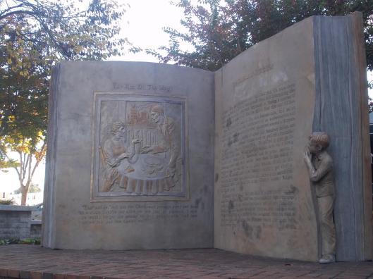 Open boek in Greensboro, North Carolina, USA